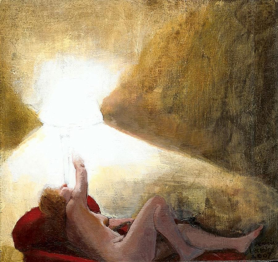 Nude Painting - Into The Light by Jeanine Leclaire