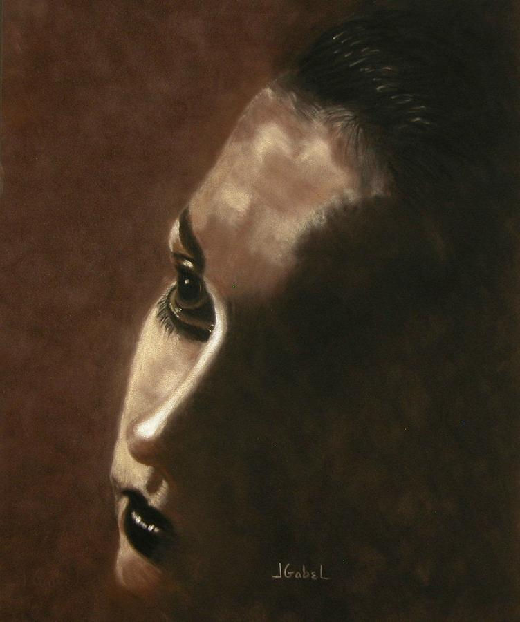 Billie Holiday Pastel - Into The Light by Laura Gabel