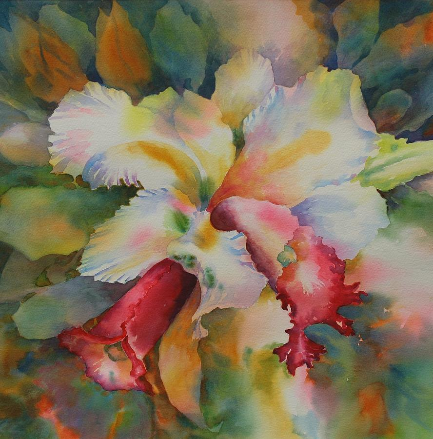 Orchid Painting - Into The Light by Tara Moorman