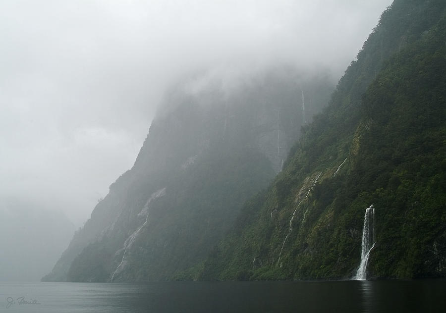 New Zealand Photograph - Into The Mist by Joe Bonita