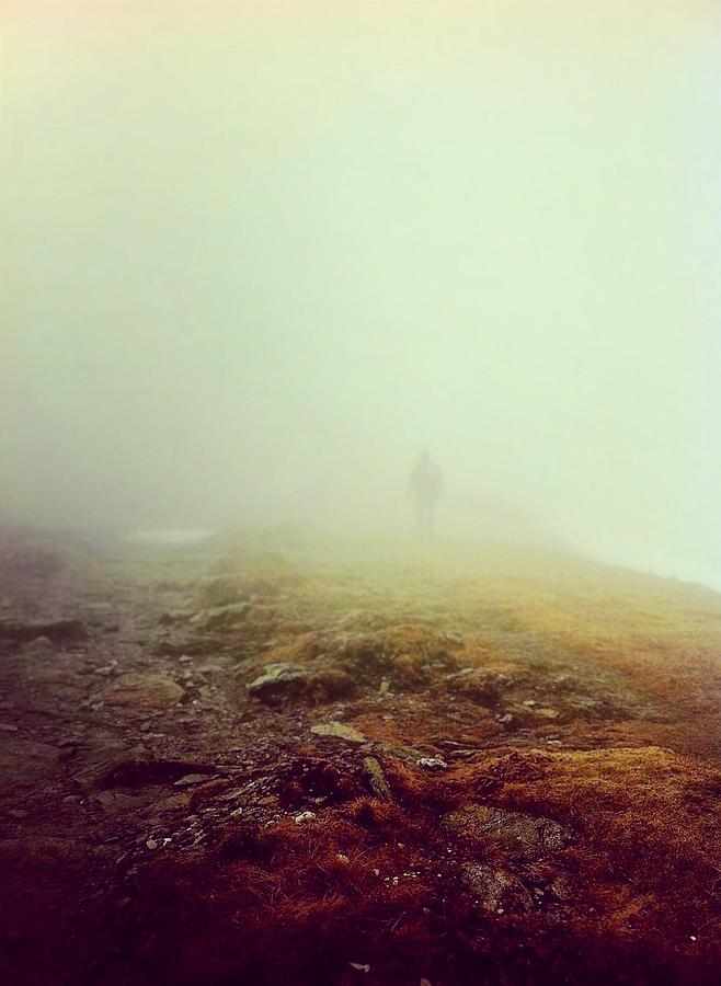 Mountain Photograph - Into The Munro Mist by Kevin Hunter