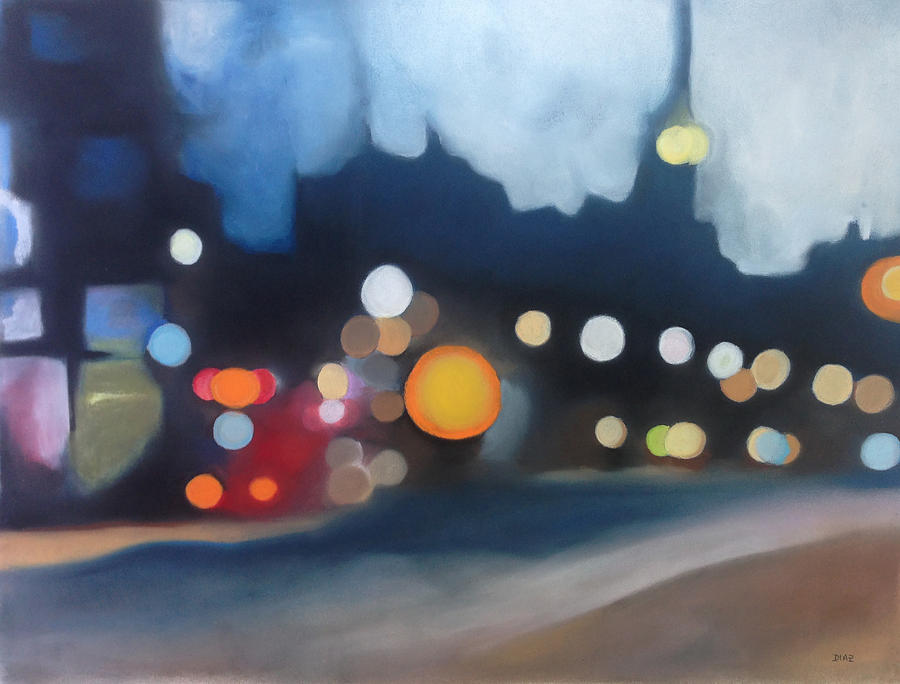Nighttime Pastel - Into The Night by Carrie Diaz