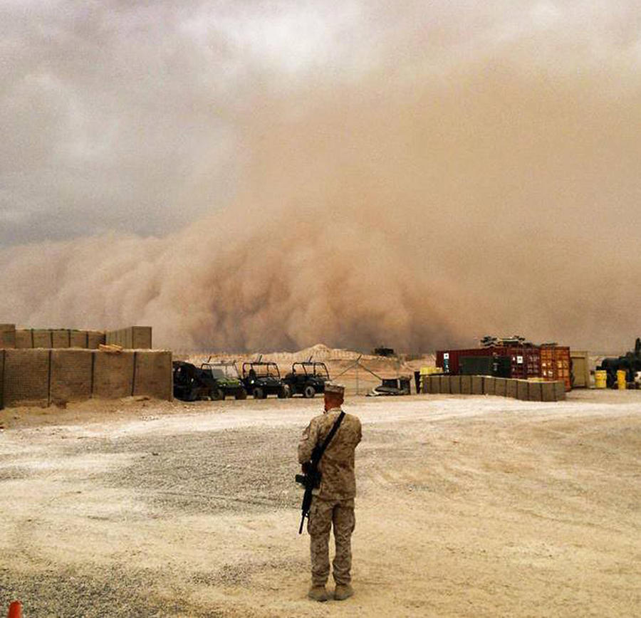 Sandstorm Photograph - Into The Sandbox by William Hall
