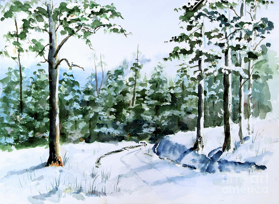Into the Snowy Woods by Pattie Calfy