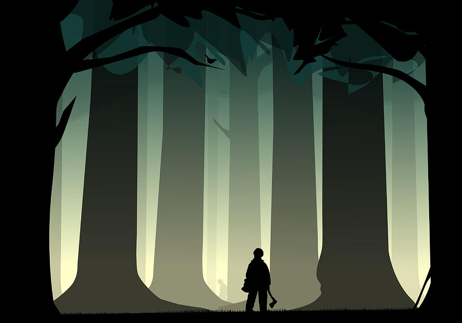 Woods Digital Art - Into The Woods by Nestor PS
