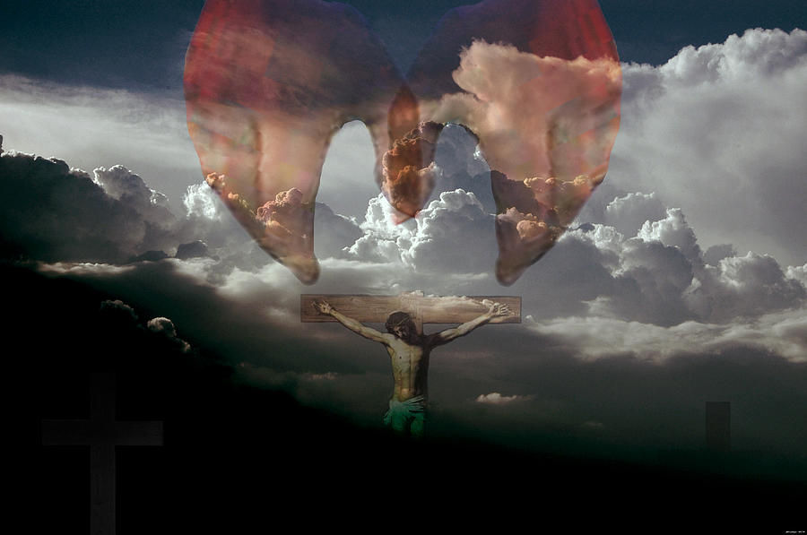 Religious Digital Art - Into Thy Hands I Come by Evelyn Patrick