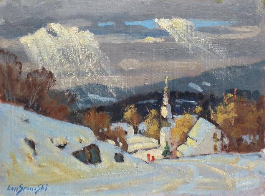 Snow Painting - Into Williamstown by Len Stomski