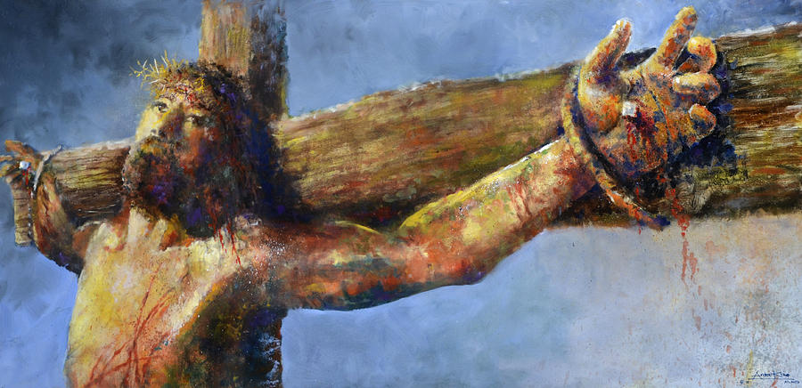 Jesus Painting - Into Your Hands by Andrew King