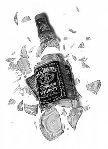 Intoxicated Drawing by Brian Duey