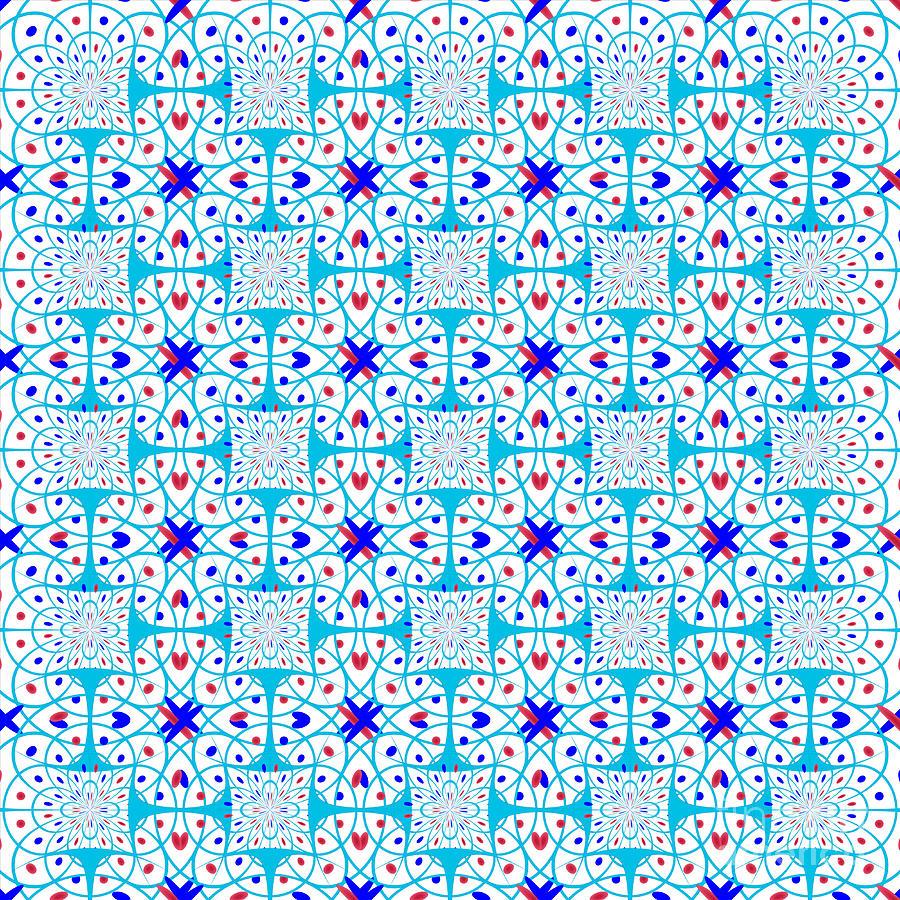 Pattern Digital Art - Intricate Geometric Pattern by Gaspar Avila