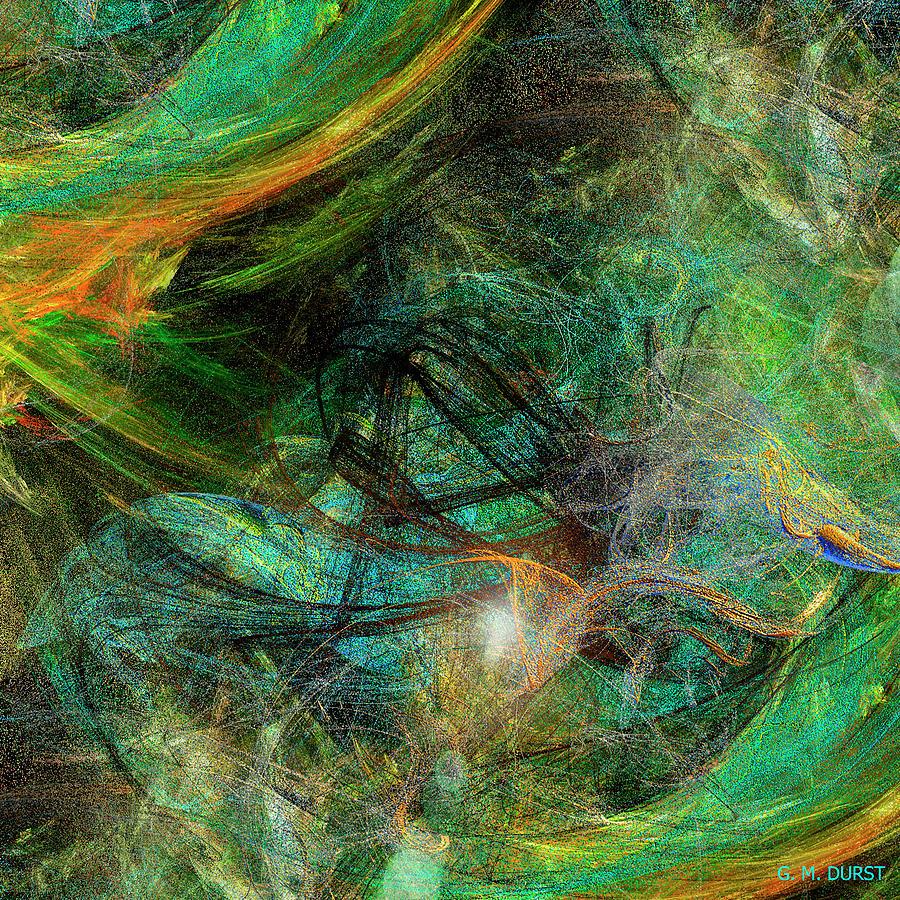 Digital Digital Art - Intricate Love by Michael Durst