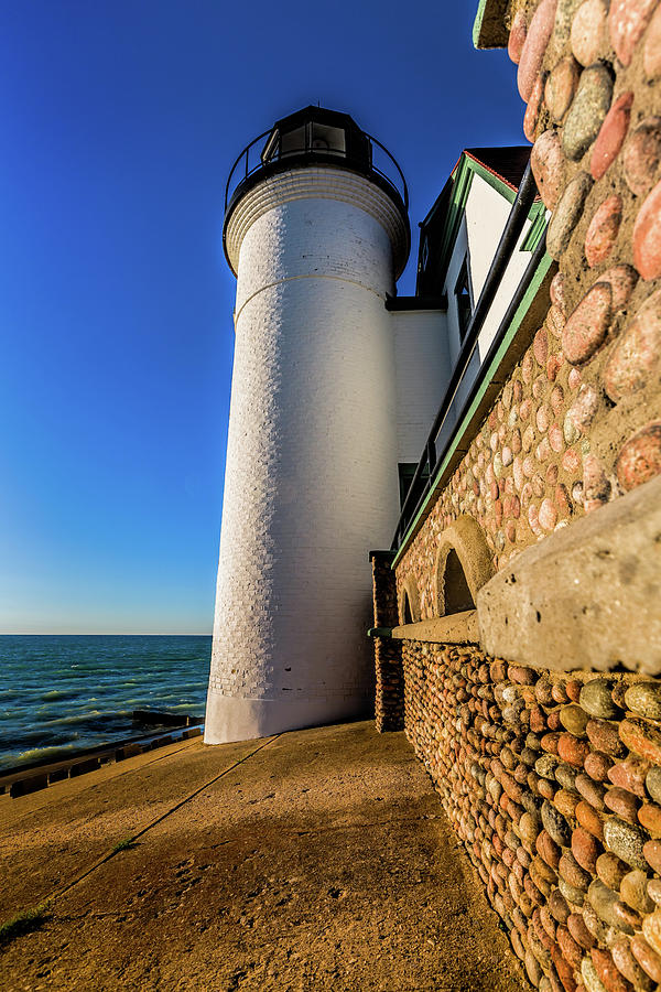 Point Betsie Light Photograph - Intricate Rocks by Joe Holley