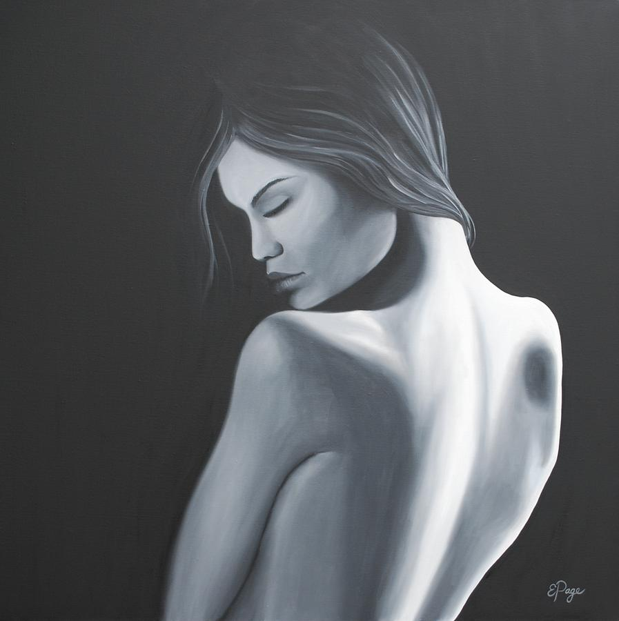 Figurative Painting - Introspection by Emily Page