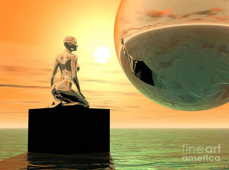 Bryce Digital Art - Introspection by Sandra Bauser Digital Art