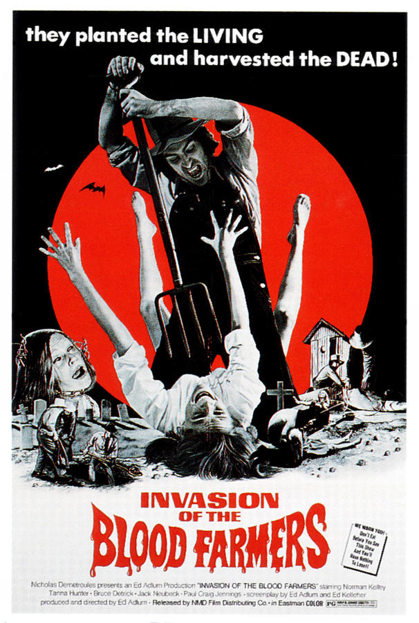1972 Movies Photograph - Invasion Of The Blood Farmers, Poster by Everett