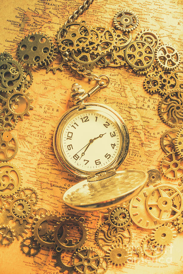 Machine Photograph - Invention Of Time by Jorgo Photography - Wall Art Gallery