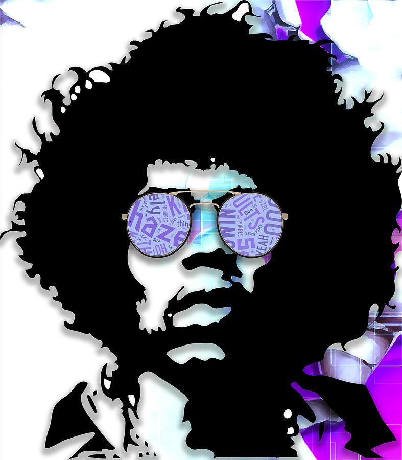 Jimi Hendrix Mixed Media - Inventiveness Jimi Hendrix by Marvin Blaine