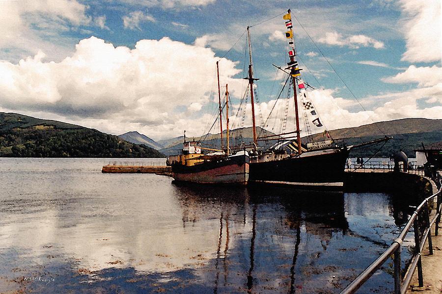 Scotland Painting - Inverarray Harbor by M S McKenzie