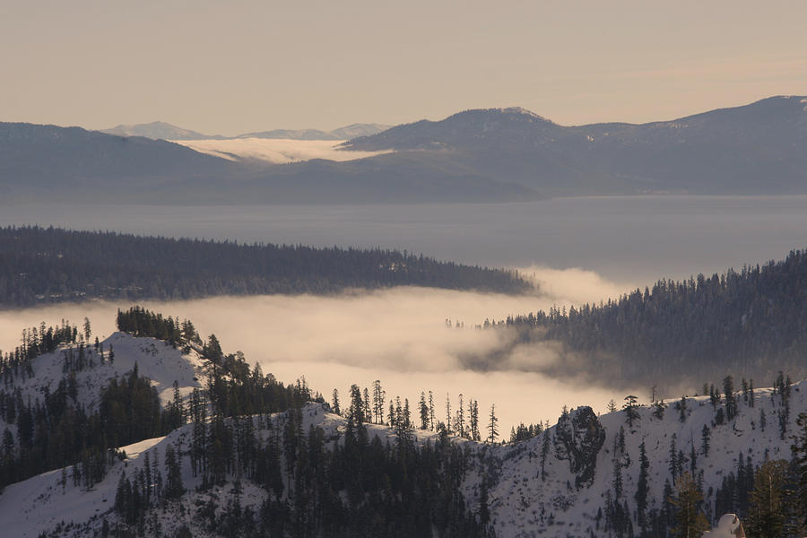 Lake Tahoe Photograph - Inversion by Adam Blankenship