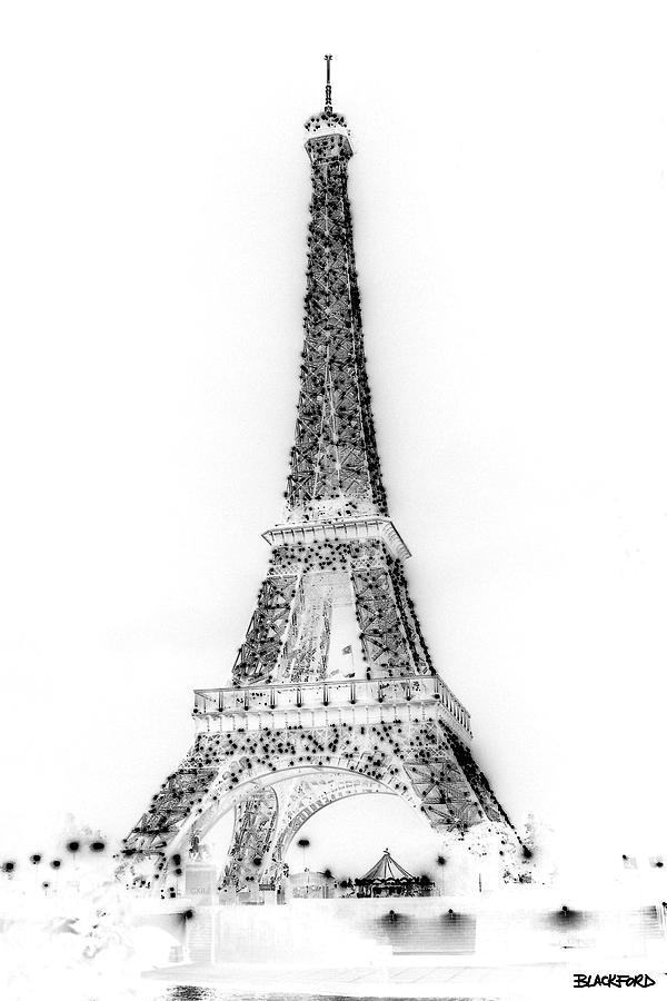 Eiffel Tower Photograph - Inverted Eiffel Tower by Al Blackford
