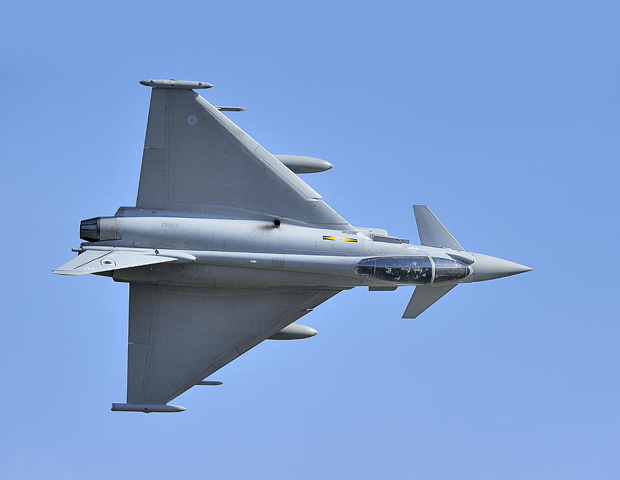 Jet Photograph - Inverted Typhoon In The Welsh Hills by Barry Culling