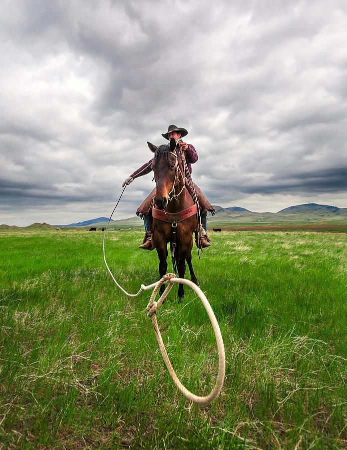 Cowboy Photograph - Invisible Calf by Todd Klassy