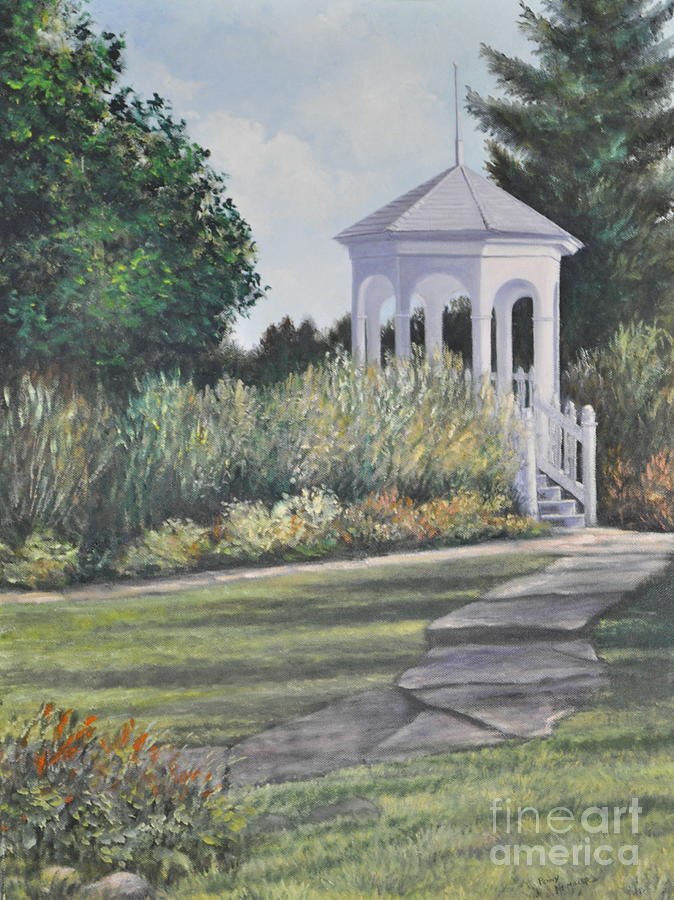 Walkways Painting - Invitation At Laurel Arts by Penny Neimiller