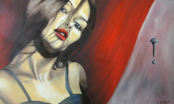 Women Painting - Invitation by Avihai Cohen