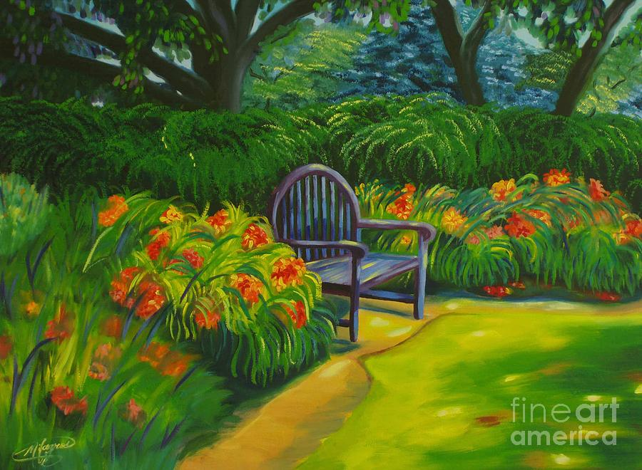Landscape Painting - Inviting by Milagros Palmieri