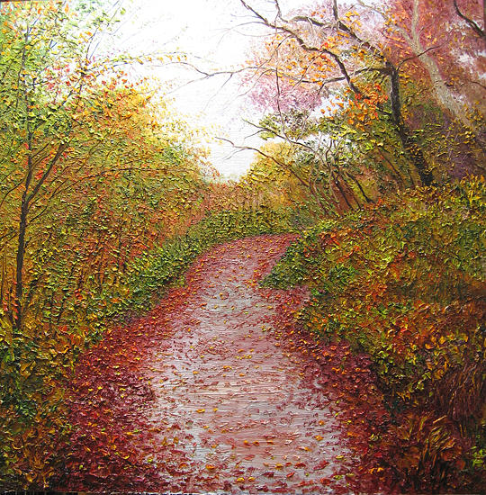 Landscape Painting - Inviting Pathway by Atousa Foroohary