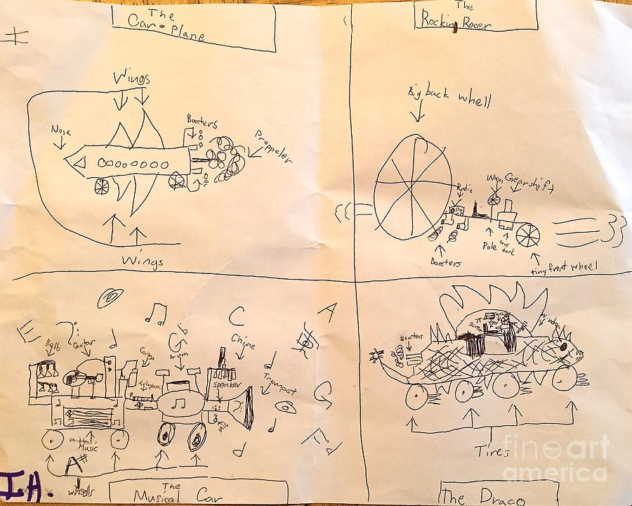 Imagination Drawing - Invulnerable Vehicles by Wonju Hulse