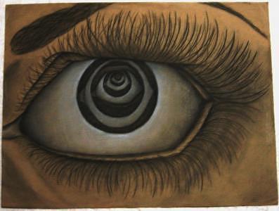Eyes Drawing - Inward by Heather Fox