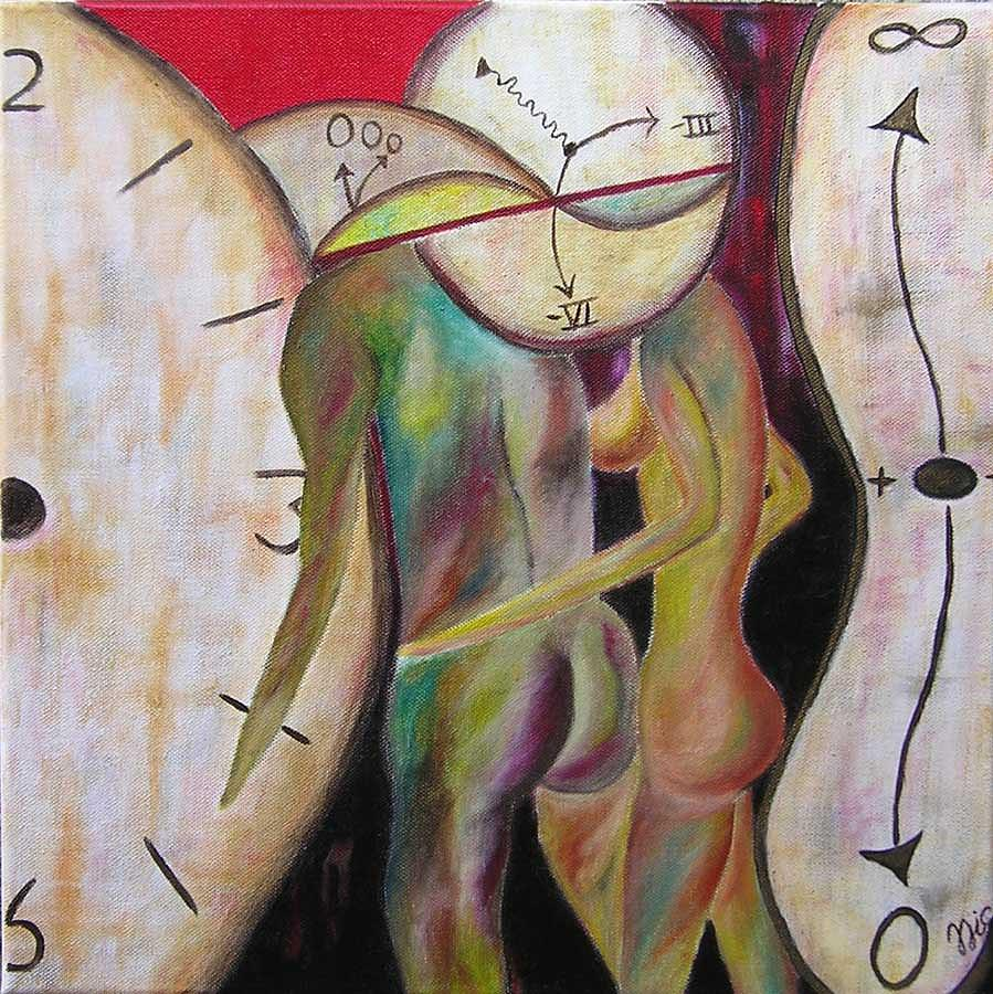 Surreal Painting - Io E Te Senza Tempo - Time Does Not Exist Between Me And You  by Nic N
