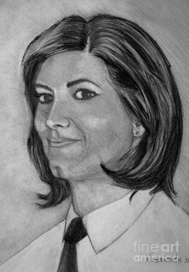 Woman Drawing - Ioanna by Kostas Koutsoukanidis