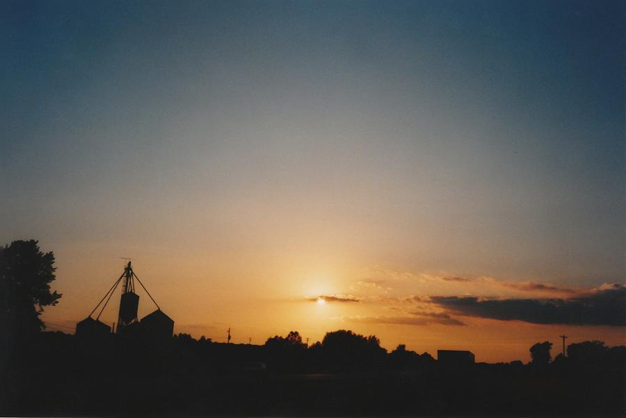 Sunset Photograph - Iowa Farmstead by Gene Linder