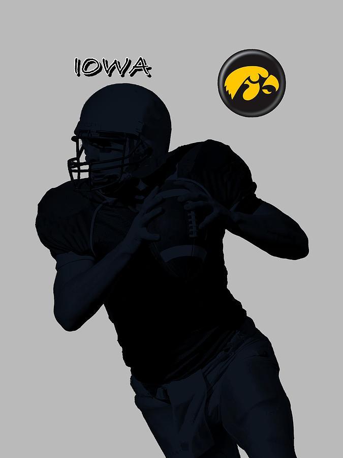 Iowa Football  Digital Art by David Dehner