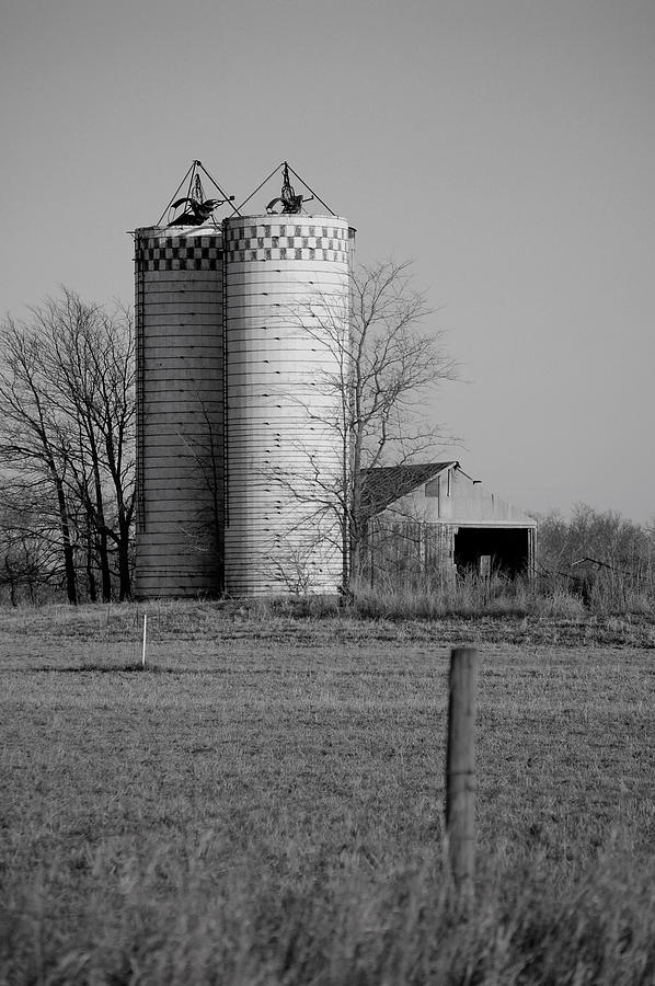 Old Photograph - Iowa Towers 1 by Jame Hayes