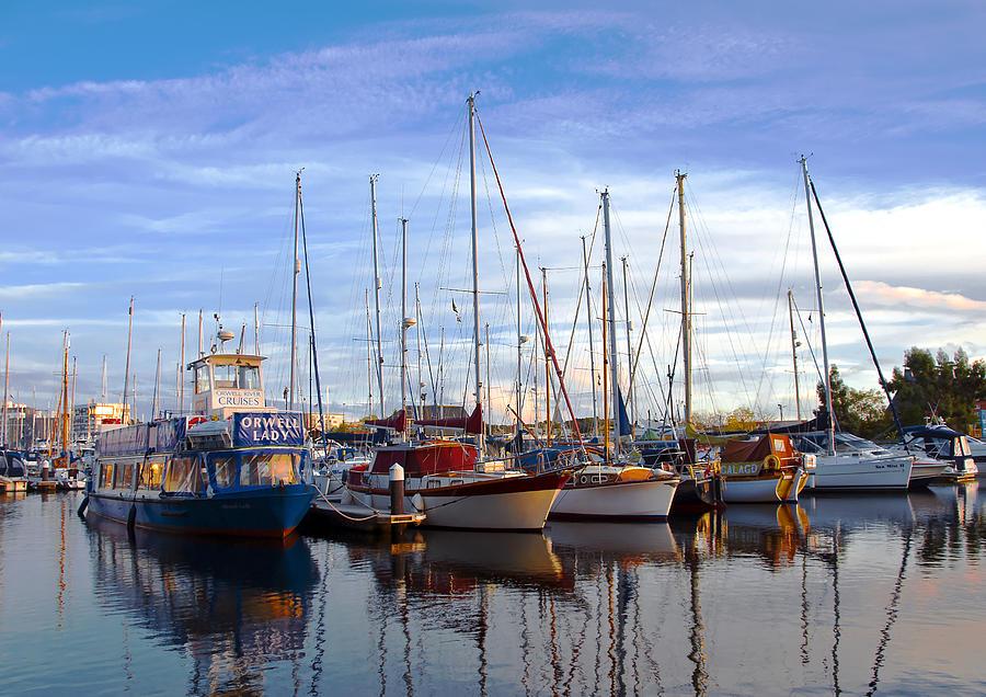 Aqua Photograph - Ipswich Harbour by Svetlana Sewell