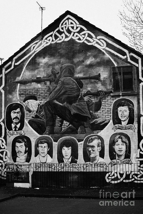 Belfast Photograph - Ira Wall Mural Belfast by Joe Fox