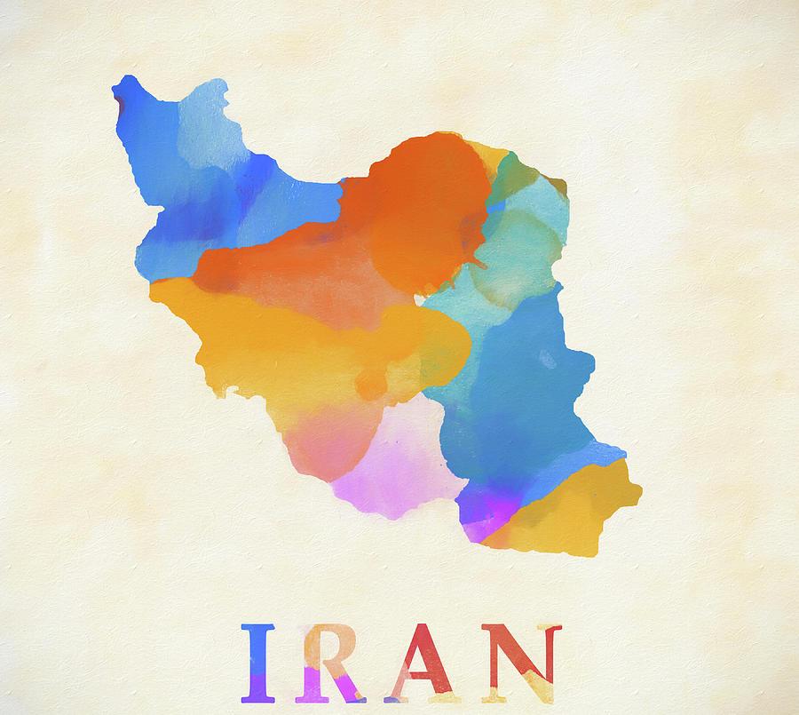 watercolor map painting iran watercolor map by dan sproul