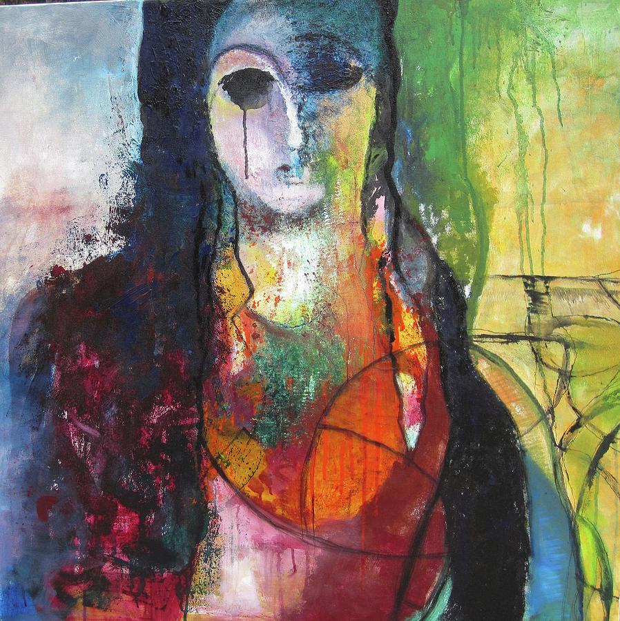 Iranian Woman Painting by Nasrin Barekat  Iranian Woman P...