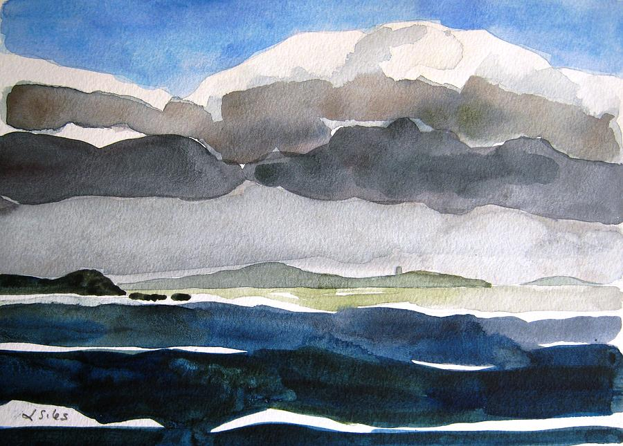 Irish Painting - Ireland Mutton Isle Clare by Lesley Giles