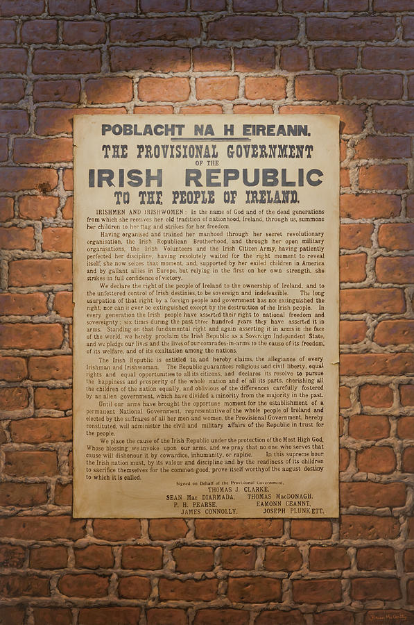 Ireland Painting - Irish Republic 1916 Proclamation of Independence by Brian McCarthy