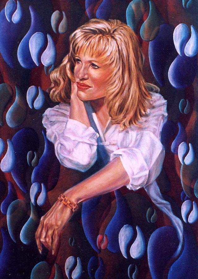 Woman Painting - Irene by John Entrekin
