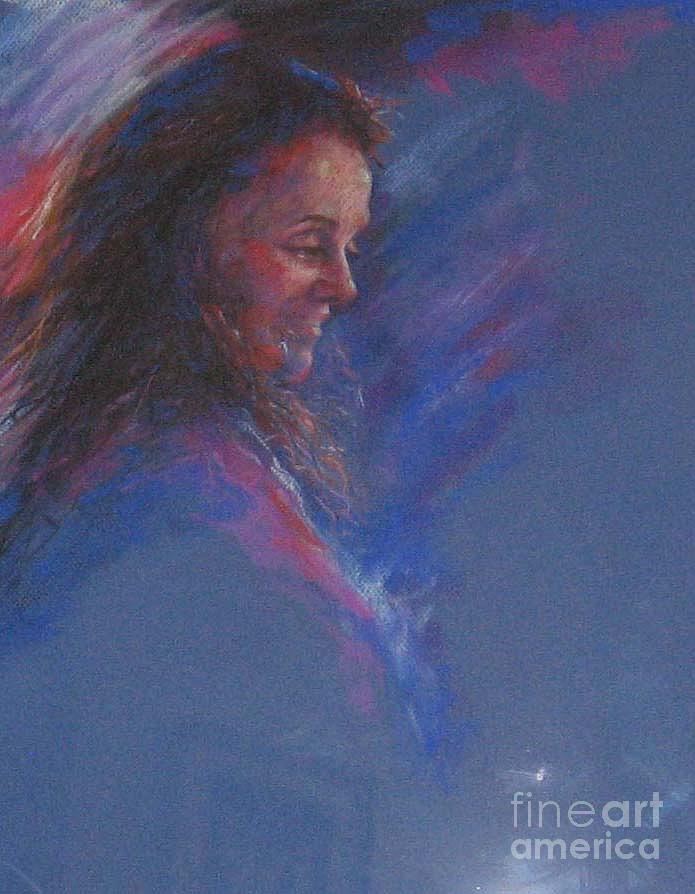 Portrait Painting - Irene mi amiga by Tina Siddiqui