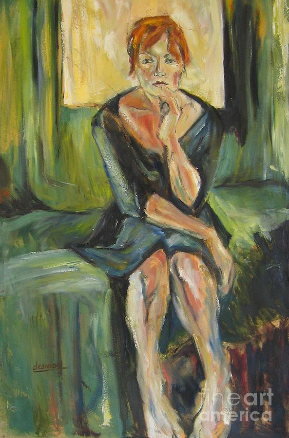 Girl Painting - Irina by Debora Cardaci