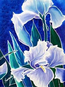 Iris Painting - Iris by Francine Dufour Jones