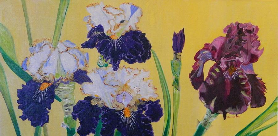 Iris Painting - Iris Afternoon Delight by Pamela Trueblood