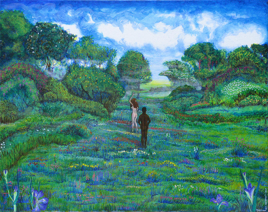 Landscape Painting - Iris And Vern by Tom Hefko