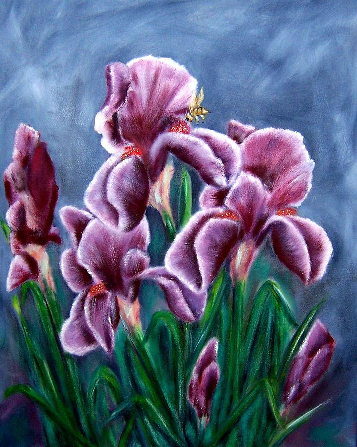 Floral Painting - Iris Awakens by Penny Everhart